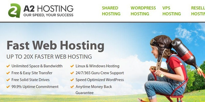 a2hosting website review